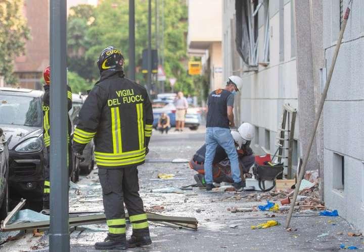 Seis heridos, uno muy grave, en una explosión en un edificio en Milán