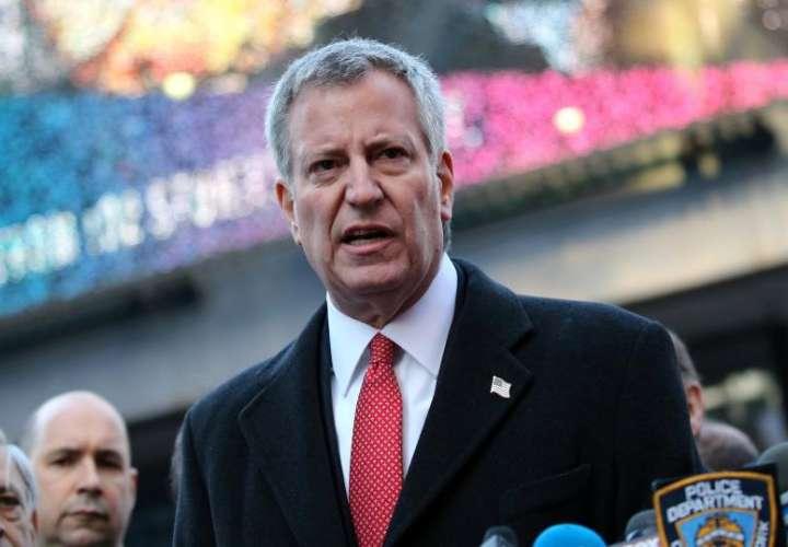 En la imagen, el alcalde de Nueva York, Bill de Blasio. EFE/Archivo