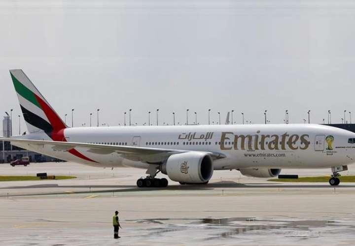 El vuelo, de la compañía Emirates, aterrizó alrededor de las 9.10 hora local (13.10 GMT) con unas 500 personas a bordo. EFE/Archivo