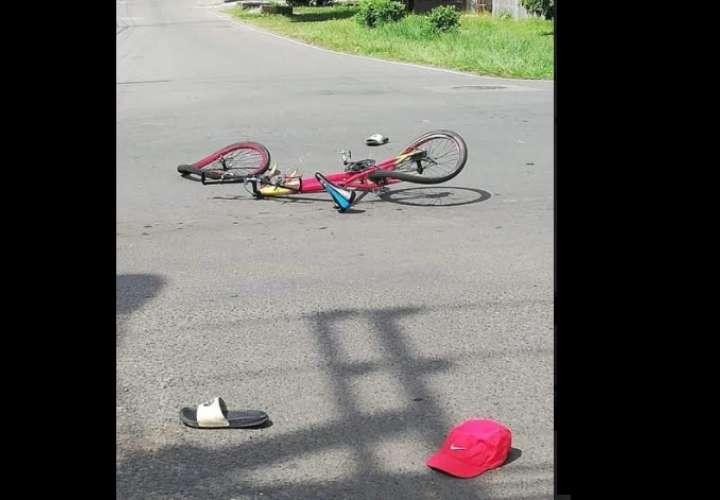 Ciclista quedó herido tras colisionar con una camioneta