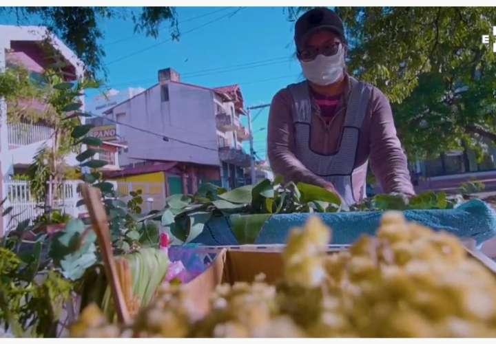 Abogada sale a la calle a vender eucalipto para obtener ingresos (Video)