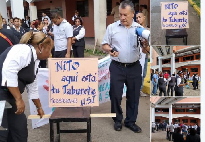 Trabajadores del HST intensifican protestas por aumento salarial