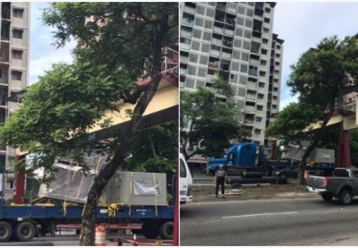 Articulado con carga quedó trabado en el puente de Los Libertadores