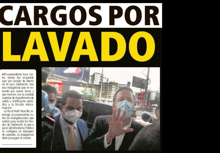 Cargos por lavado de dinero le imputan a Varela