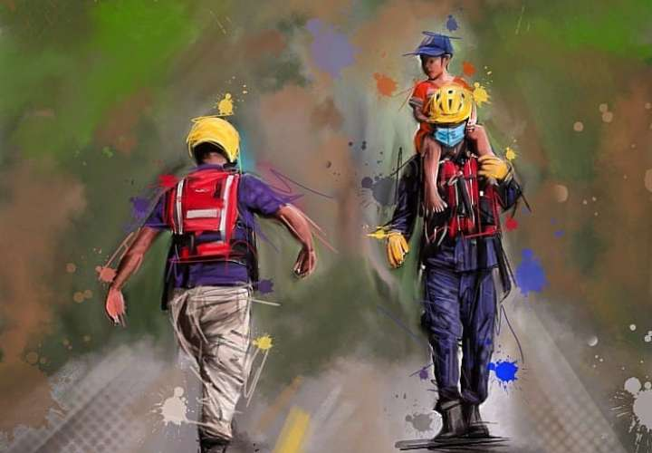 """Caricaturistas le rinden homenaje a los """"héroes sin capa"""" de la tragedia"""