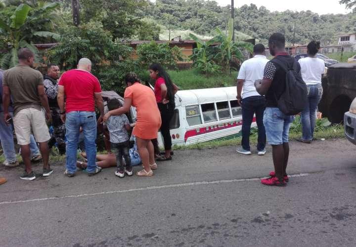 Accidente en Colón. Foto: @C3Calito