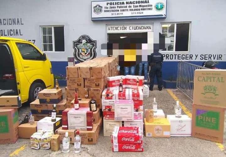 Frenan contrabando de cigarrillos y licores en San Miguelito y Chiriquí