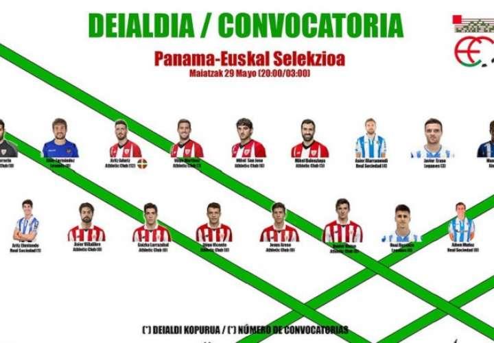 Lista de jugadores convocados por el técnico Javier Clemente. Foto: Twitter