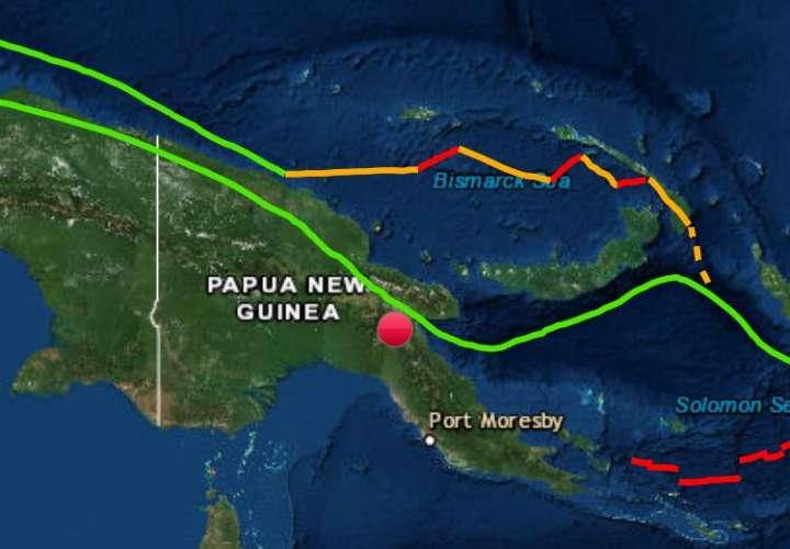 Fuerte terremoto de magnitud 7.2 sacude Papúa Nueva Guinea