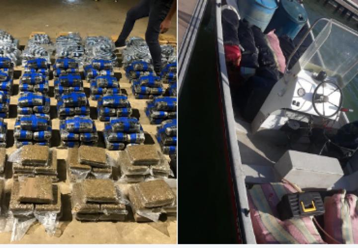 Embarcación transportaba 796 paquetes de droga en Darién