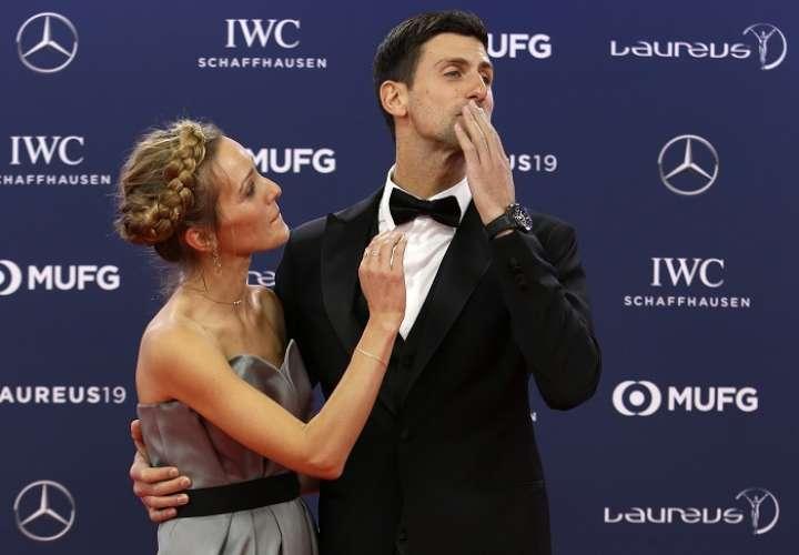 Novak Djokovic gana premio al deportista del año. Foto: AP