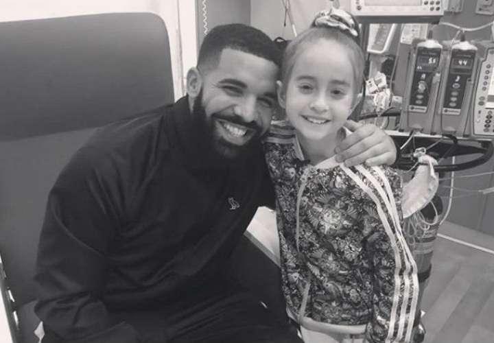 Drake le cumple sueño a pequeña que espera por trasplante de corazón