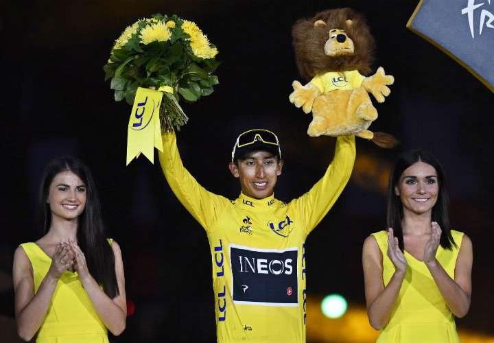 Egan Bernal hizo historia en el ciclismo mundial. Foto: AP