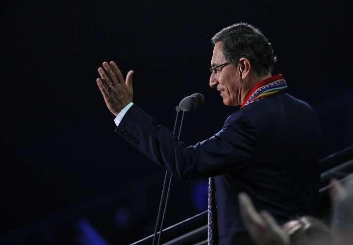 El presidente de Perú Martín Vizcarra. Foto: EFE ARCHIVO