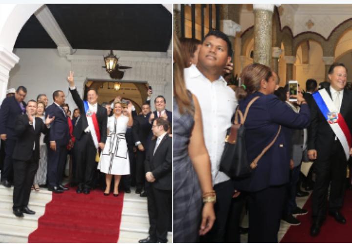 """""""Me voy muy contento"""", dijo Varela a su salida del Palacio Presidencial"""