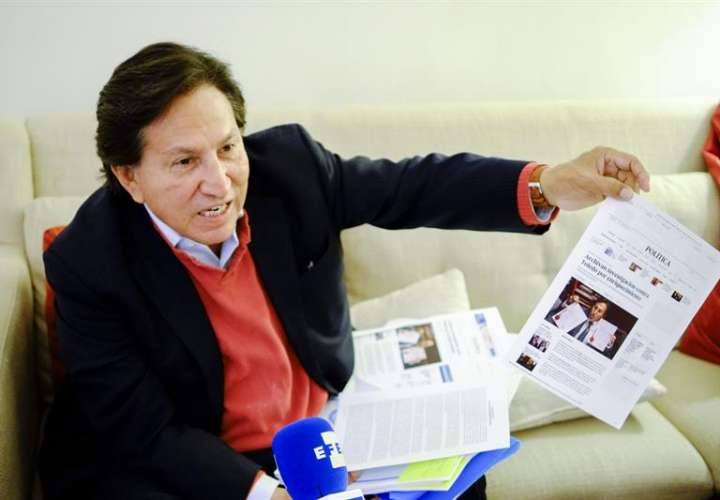 Registro del expresidente peruano Alejandro Toledo, quien es pedido en extradición por la Fiscalía de Perú, que lo investiga por el delito de lavado de activos en el marco del caso Ecoteva. EFEArchivo