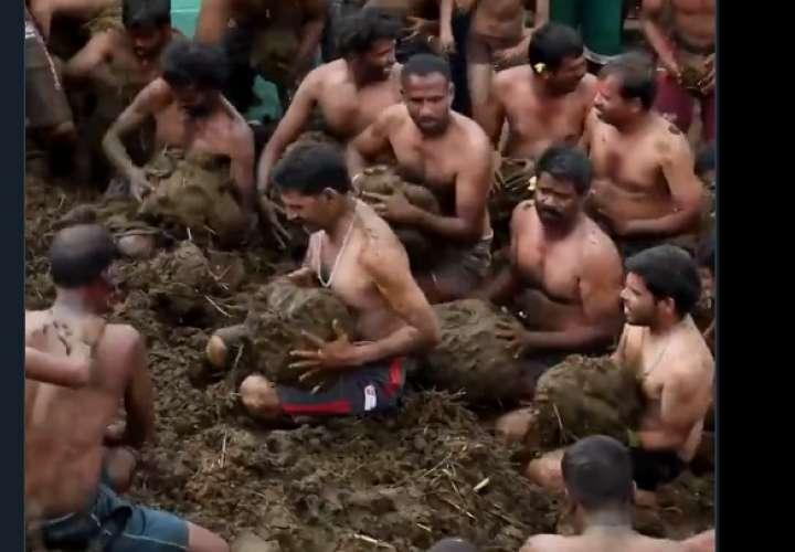 Embárrense y lancen caca de vaca en el festival fecal de la India