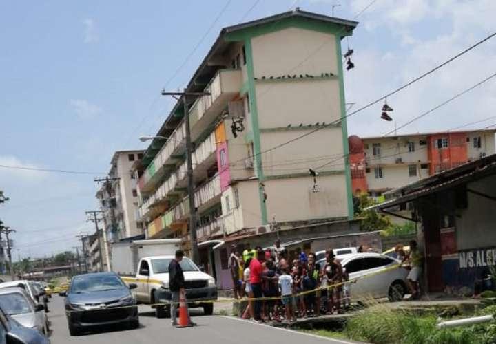 Vista general de la escena del suceso. Foto: Diómedes Sánchez