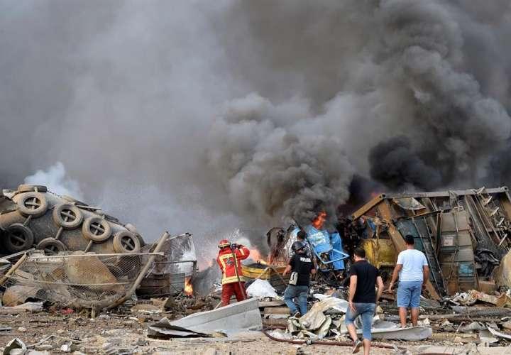 Suben a 63 muertos y 3.000 heridos por la explosión en el puerto de Beirut