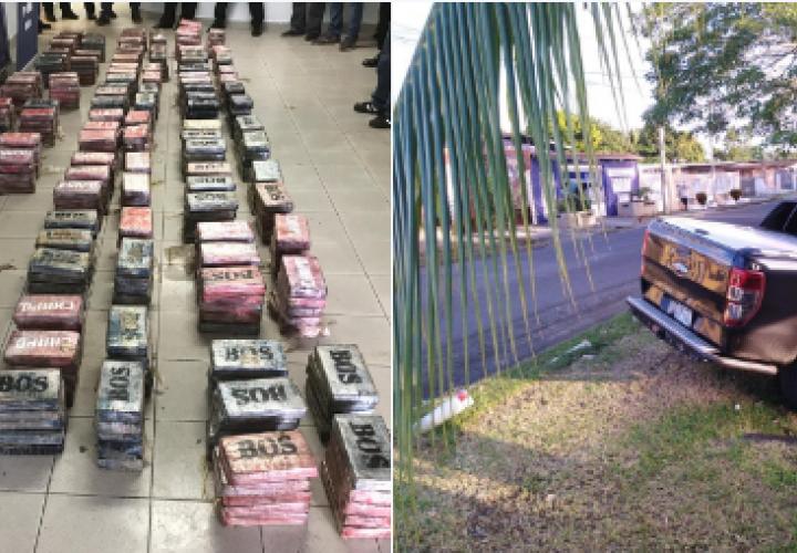 Hallan 23 bultos con droga en auto en Colón