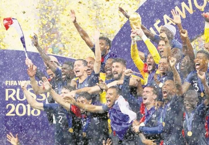 Francia levantó la copa de campeón en Rusia 2018./ Foto Archivo