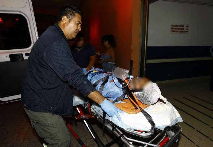La víctima se mantiene recluido en el Hospital Santo Tomás. Foto: Alexander Santamaría