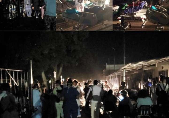 Suspenden servicios en Hospital Regional de Chepo tras incendio de anoche