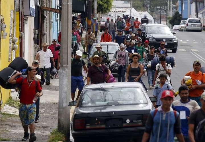 Migrantes llegan al centro de México