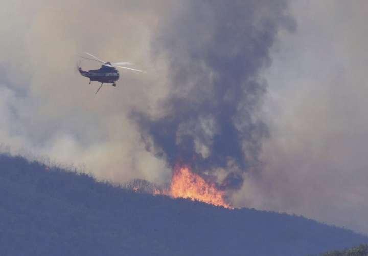 Incendio calcina una reserva natural al sur