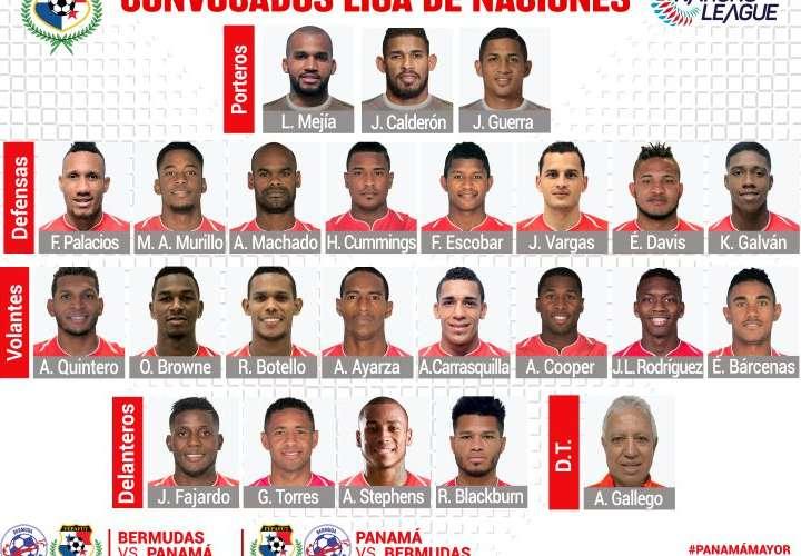 Gallego definió el equipo para jugar ante Bermudas