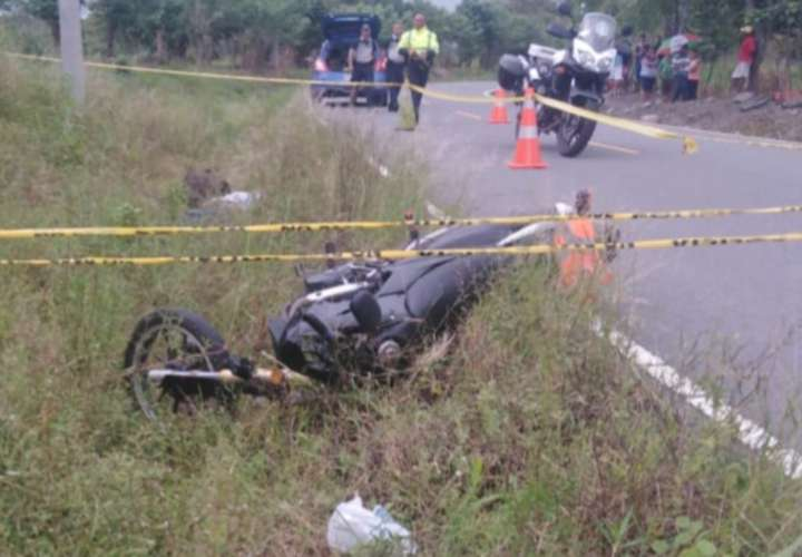 Motorizado dejó su vida en la vía hacia Alanje