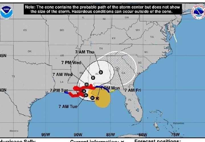 Huracán Sally se acerca a Nueva Orleans mientras Paulette deja atrás Bermudas