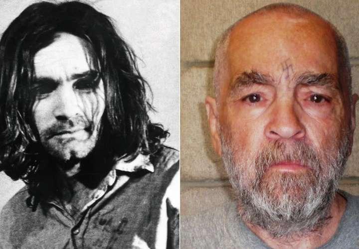 Foto combinación: vista del criminal del Departamento de Correcciones y Rehabilitación de California que muestra al criminal estadounidense Charles Manson, en California (Estados Unidos) el 18 de marzo de 2009. EFE