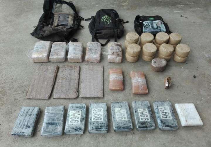 Capturan a tres panameños y un colombiano con droga en Darién