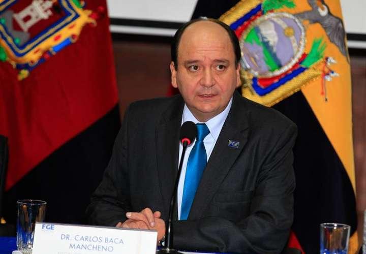 En la imagen, el fiscal general de Ecuador, Carlos Baca. EFEArchivo