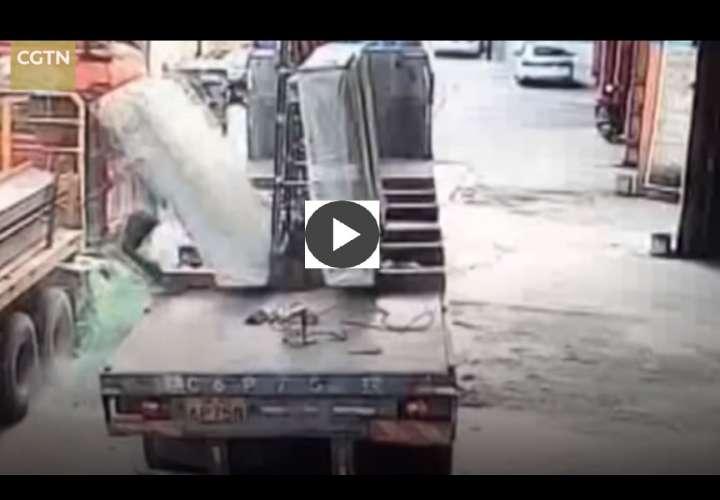 El video fue publicado por el canal chino de televisión CGTN.