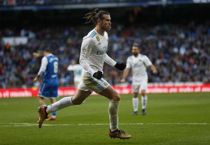 Gareth Bale celebra./ Foto AP