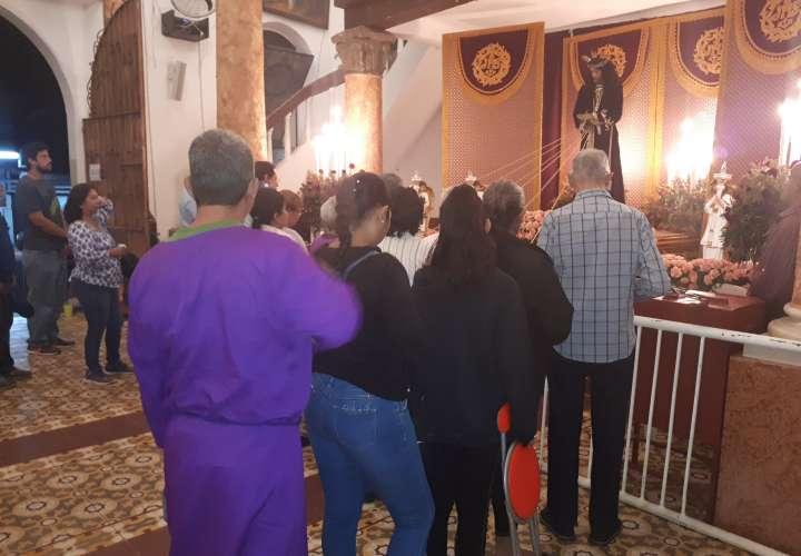 Peregrinos llegan al encuentro con Cristo Jesús Nazareno de Atalaya