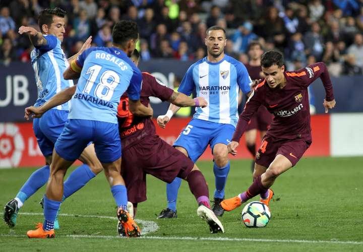Coutinho y Suárez resolvieron al Barcelona, que no contó con Messi