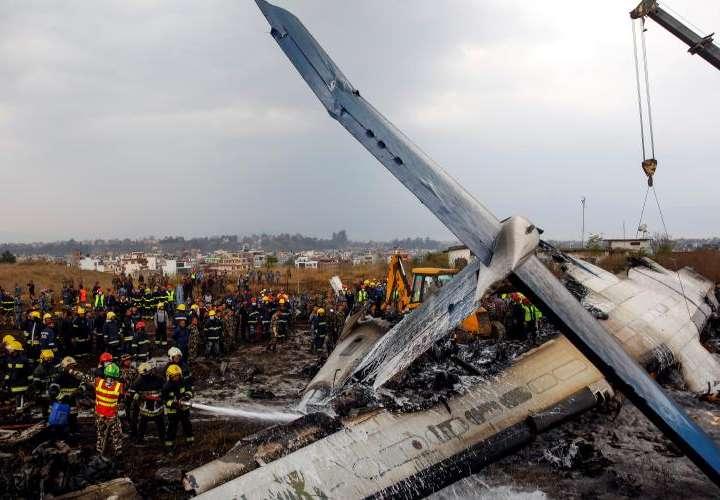 Se estrelló el avión