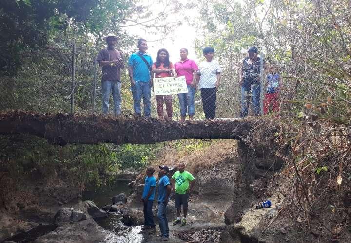 Preocupación por puente en La Pita a punto de colapsar