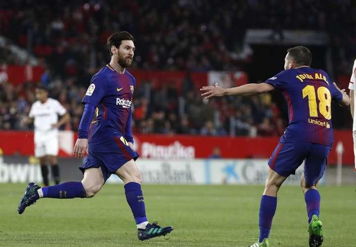 Lionel Messi celebra./ Foto AP