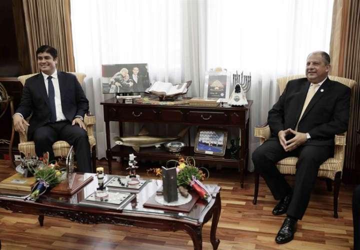 Reunión del presidente electo de Costa Rica con el actual mandatario. Foto/EFE