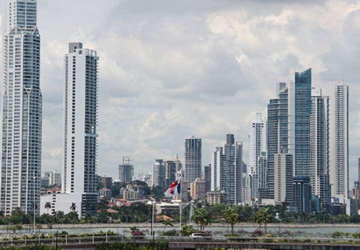 Vista general del centro bancario de la ciudad de Panamá. Foto: MEF
