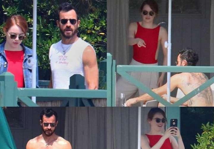 Justin Theroux y Emma Stone pillados en Francia