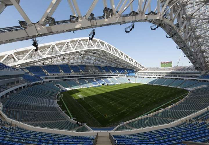Estadio de Sochi, una de las sedes del mundial./AP