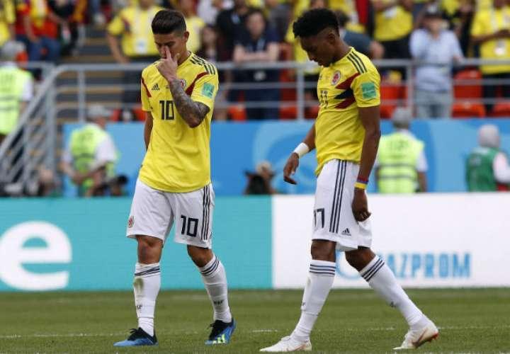 La selección de Colombia perdió por marcador de 2-1. Foto: EFE