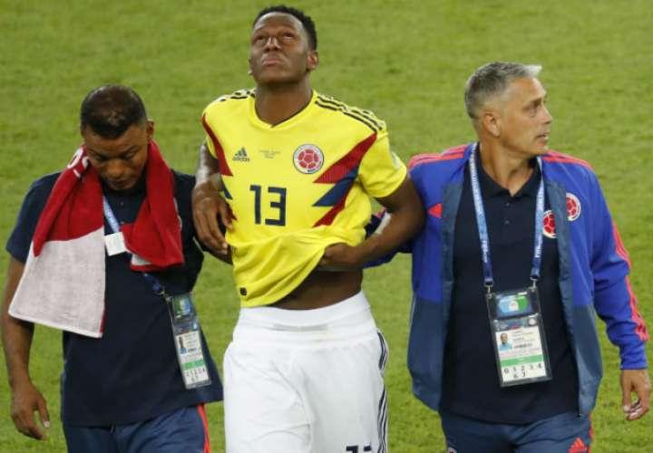 Yerry Mina fue la figura en la selección de Colombia. Foto:EFE