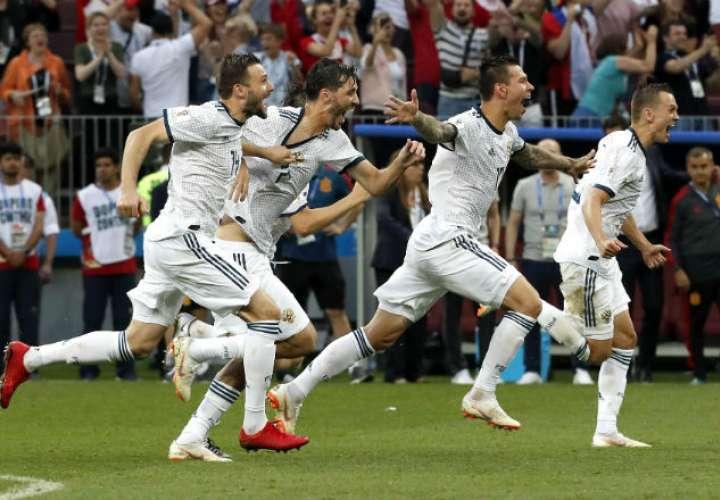 Rusia jugará los cuartos de final contra Croacia.