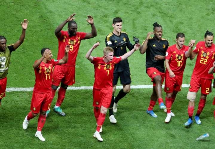 La selección de Bélgica eliminó a Brasil en los cuartos de final. Foto:EFE